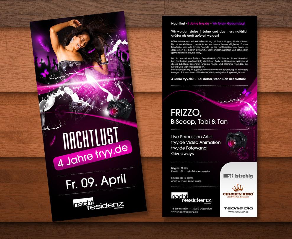 Party flyer với kích thước A5
