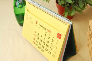 Mẫu lịch để bàn phổ biến
