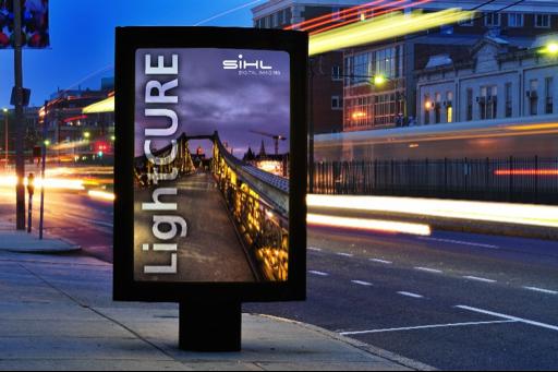 Mẫu in backlit film đẹp rẻ làm hộp đèn quảng cáo ngoài trời