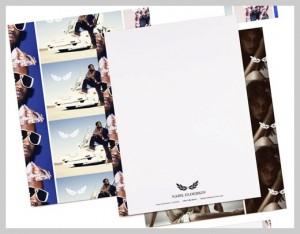 Mẫu in letterhead phá cách dành cho công ty kinh doanh trong lĩnh vực nghệ thuật hoặc thời trang.