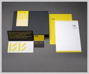 Mẫu in letterhead nổi bật với màu vàng thu hút.