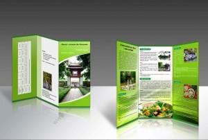 Tờ gấp chủ đề về du lịch ở Hà Nội.