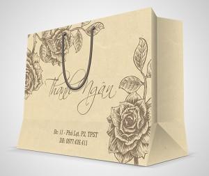 Kiểu in túi giấy cho shop thời trang nhỏ lẻ.