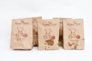 Kiểu in túi giấy tái chế đựng thực phẩm giá rẻ.