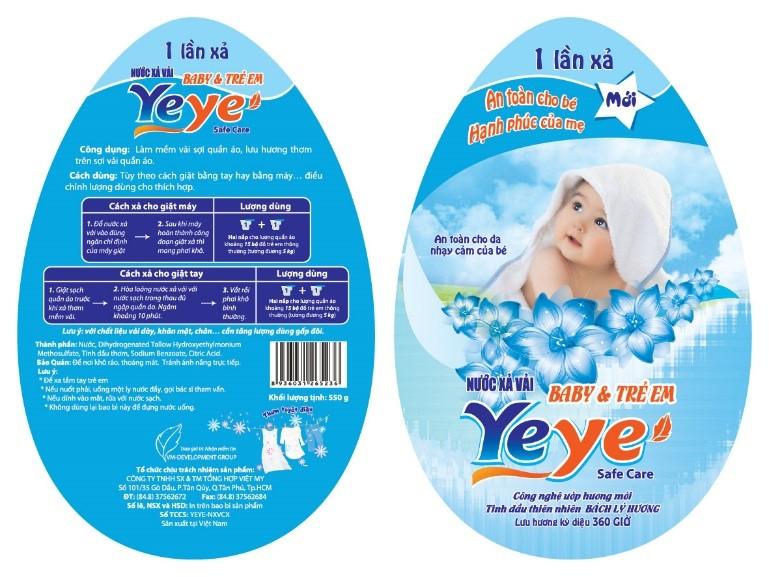 Nhãn mác hàng hóa dành cho trẻ sơ sinh.