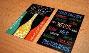 Thiết kế in card visit bắt mắt với màu sắc nổi bật.