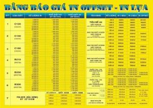 Giá in offset đẹp tại công ty in ấn Đại Dương (bảng tham khảo)