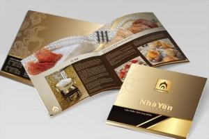 Mẫu in catalogue dành cho nhà hàng.
