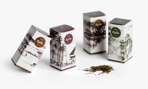 Mẫu bao bì giấy sản phẩm chè mang đậm nét truyền thống.