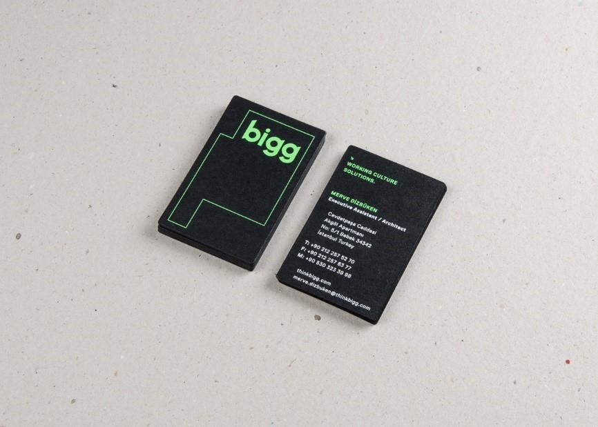 Mẫu in card visit chất lượng cao của thương hiệu Bigg.