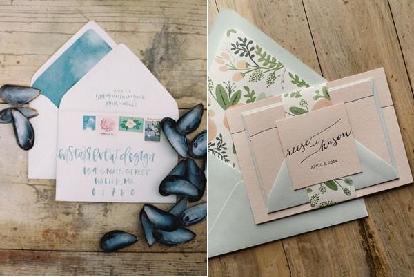 Hãy để mọi người bất ngờ khi mở thiệp cưới của bạn bằng cách trang trí giấy lót thật nổi bật nhé!