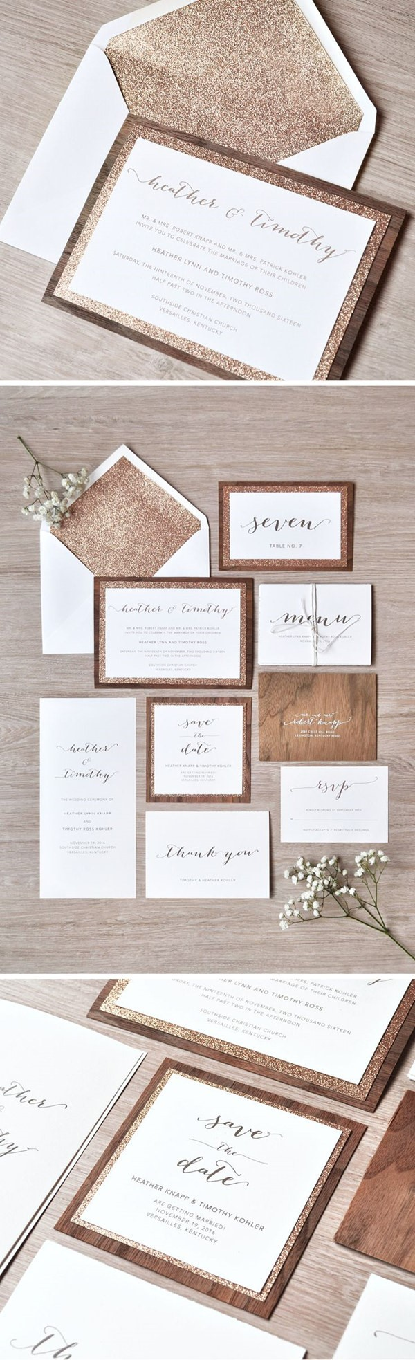 Sử dụng chất liệu lấp lánh ánh kim loại đang là xu hướng mùa cưới 2016 đấy!