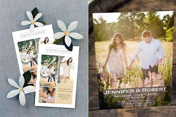 Sẽ rất thú vị nếu thiệp mời có hình ảnh của cô dâu, chú rể vì khách mời có thể lưu giữ chúng làm kỉ niệm.